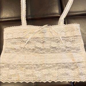 Crochet off white American eagle tank